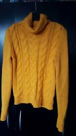 H&M cable knit rollneck size 10