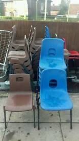 Selection of children's chairs and tables