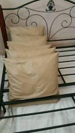 6 Large Beige cushions