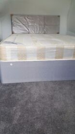 NEW DOUBLE DIVAN BED WITH HARRIS MATTRESS