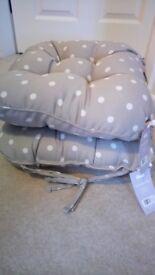 2 x Dunelm dining room seat cushions BNWT