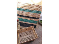 20 X Bail Arm Bale Plastic Crates Storage Stacking