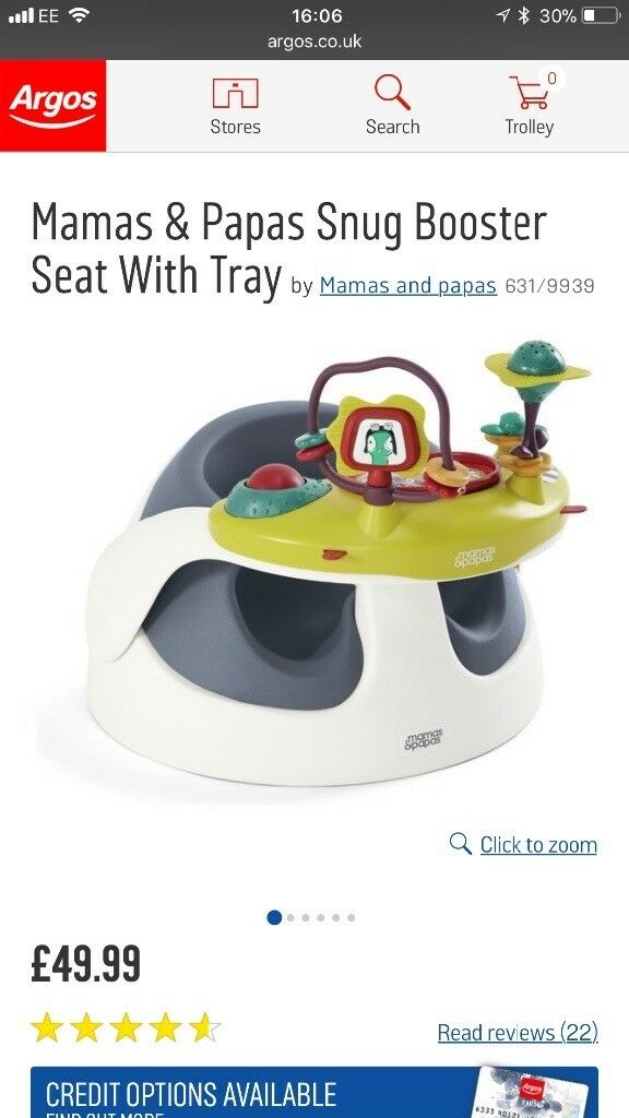 Mammas and papas booster chair
