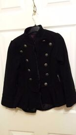 Girls black jacket age 7/8