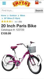 Girls bike with stabilisers aged 7-11