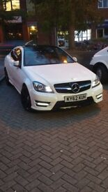 Mercedes C220 cdi AMG sport Auto White Red leather