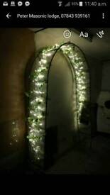 Wedding day garden arch