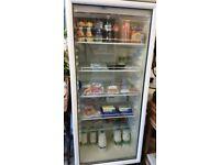 Large glass fronted fridge for shop/ restaurant