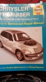 Haynes manual for a PT Cruiser