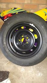 5x100 brand new steel wheel and tyre never been used 5x100