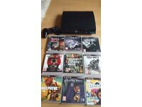 Playstation 3 slimline with contol and 9 games
