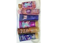 Brand new bundle of body cream, bath products
