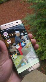 Samsung Galaxy S7 edge Gold Unlocked ( cracked Screen)