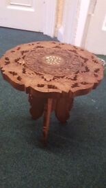 Wooden hand crafted table