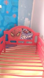 Free to anyone who can use a 725mm x 1400mm Spider man bed sorry no mattress