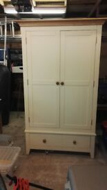 Wardrobe with hanging and bottom drawer
