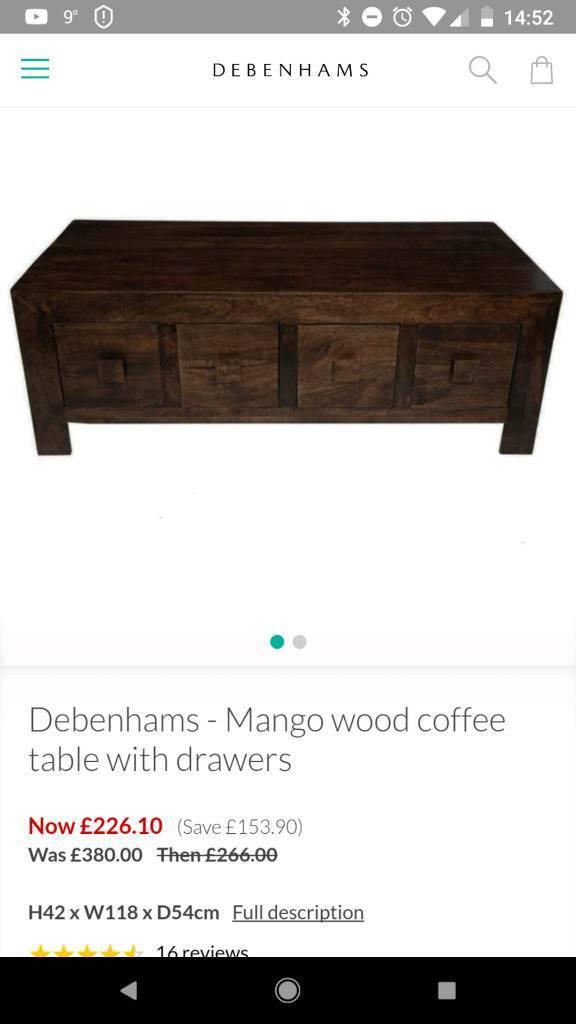 Debenhams Mango Wood Coffee Table In Pontardawe Swansea Gumtree
