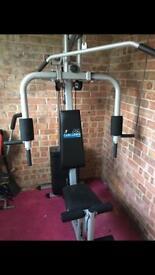 Bundle of exercise equipment, multi gym, exercise bike, cross trainer, sparring set