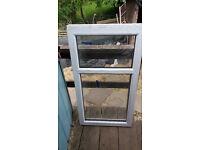 Upvc window frame with glass