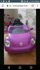 Girls purple electric beetle