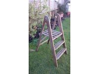 Step Ladder - Wooden - ready for shabby chic or cool plant stand