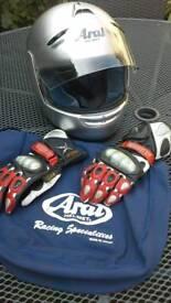 Ladies Aria Crash Helmet & Gloves