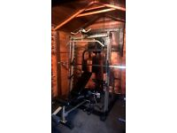 Nautilus smith machine with pec deck, pulley bench