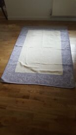 Lovely rug, off white and purple