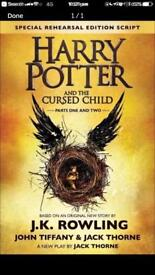 Harry Potter cursed child tickets 01/08/18