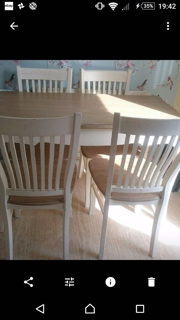 Shabby chic melody maison table and 4 chairs