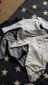 Baby boy vests x4 long sleeved 9-12 months