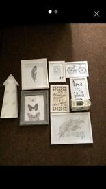 Picture frame set and other decorative items
