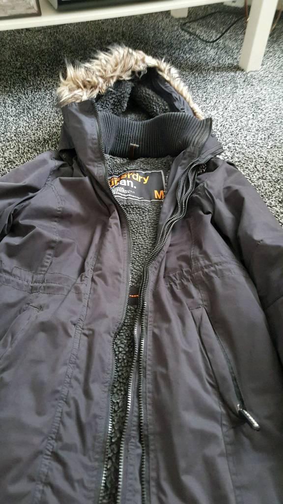 Charcoal superdry coat