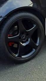 "Mercedes alloy wheels 18""with tyres"