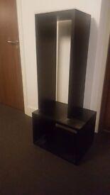 Black solid wood habitat shelf