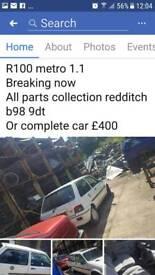 R100 metro 1.1 breaking now