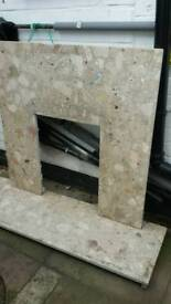 FREE Marble hearth and back panel