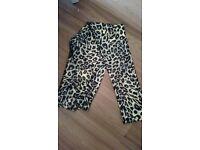 Ladies funky shimmer leopard leggings 12