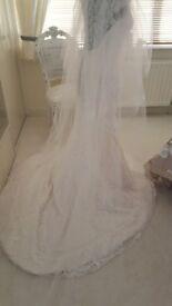 Jasmine Couture wedding dress and veil Brand new