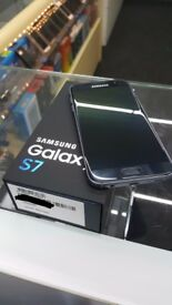 = RECEIPT INCLUDED = MINT Condition UNLOCKED Samsung Galaxy S7 32GB Midnight Black *Fully Boxed*