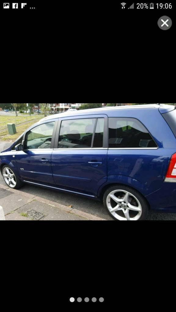 Vauxhall zafira 1.9cdti elite top of range