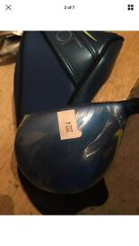 Nike vapor fly driver, 5 wood & 3 rescue (all left handed)