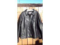 Mens Leather Jacket. Ben Sherman. XL