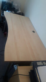 Great Condition Large Beech Office Desk