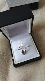 Sterling silver Chapelle ring BNIB