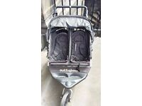 Double buggy Outnabout - good condition, great for city and country walks
