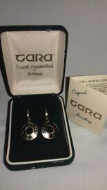 Enamelled gold plated earrings - Tara Jewellery Company, Ireland