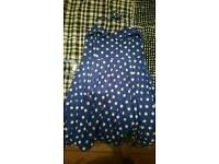 Polka dot swing dress rockabilly size 20
