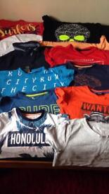 12 x summer/holiday t shirts 8-9 years. All in great condition.