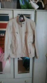 Gents soft Beige Leather Jacket